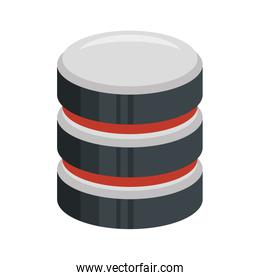 color silhouette of database 3d icon