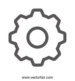grayscale contour with gear wheel