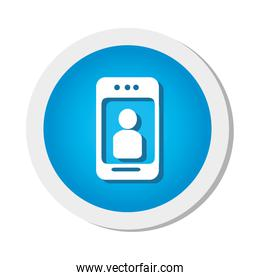 smartphone with user icon