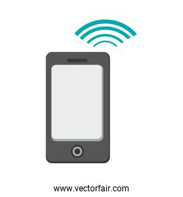smartphone with connection wifi