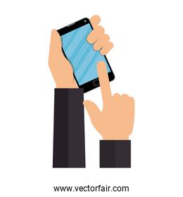 smartphone with commercial app