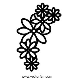 cute flowers decoration icon