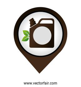 gallon with leafs ecology icon