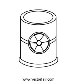 nuclear barrel isolated icon