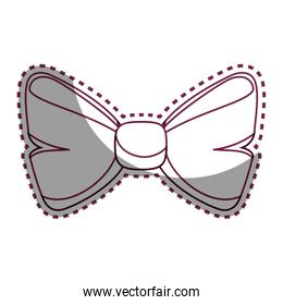 bowtie ribbon isolated icon