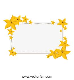 cute floral frame decorative