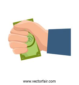 hands human with money