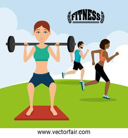 Gym and fitness lifestyle