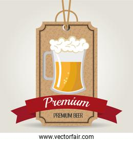 Premium beer graphic