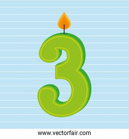 candles years number design