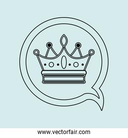 crown isolated design