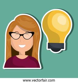 person and bulb design