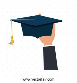 graduate student with  isolated icon design