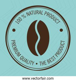 guarantee label coffee  isolated icon design