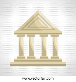 bank building isolated icon design