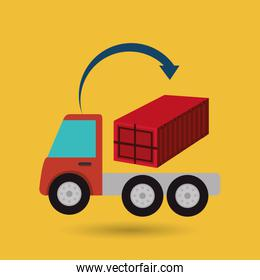truck delivery shipping cargo