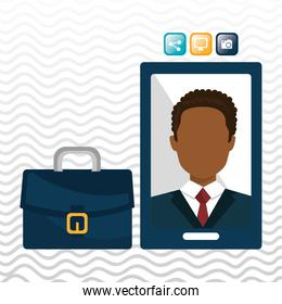businesspeople isolated icon design