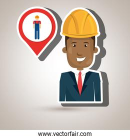 man worker isolated icon design