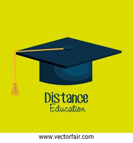 distance education isolated icon design