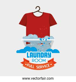laundry room isolated icon design