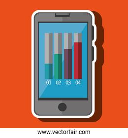smartphone and graphc isolated icon design