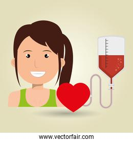 person blood donor nurse