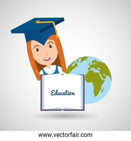 student graduation diploma world