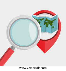 search pin travel location
