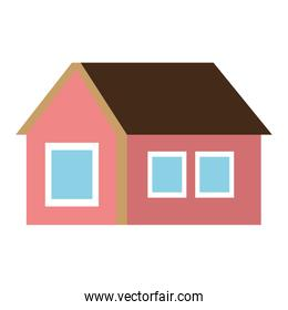 colorful one floor house,vector graphic