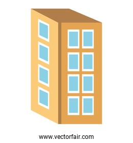 colorful four floor building,vector graphic
