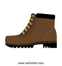 colorful boots with laces,vector graphic