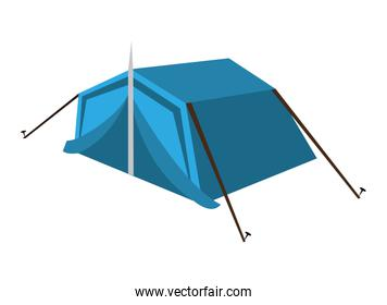 blue camping tent,vector graphic