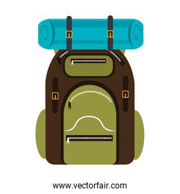 colorful camping backpack,vector graphic