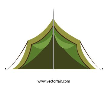 green camping tent,vector graphic