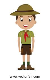 avatar boy with colorful clothes and hat,vector graphic