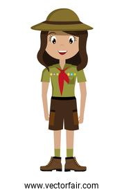 avatar girl wearing colorful clothes and hat,vector graphic