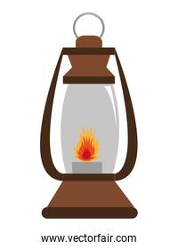 lantern with flame ,vector graphic