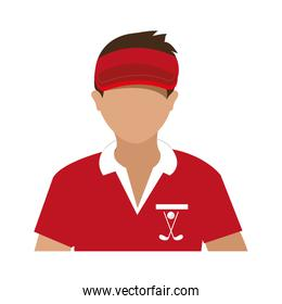 avatar man with sports clothes and cap,vector graphic
