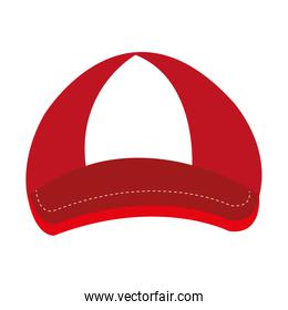 red and white cap,vector graphic