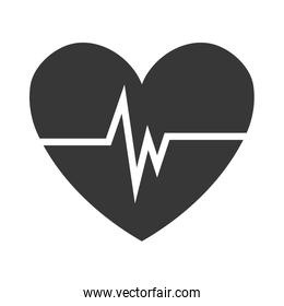 heart with beats icon,vector graphic