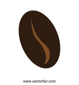 brown coffee bean,vector graphic