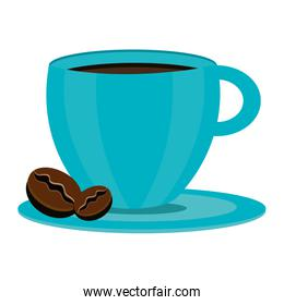 blue coffee cup,vector graphic