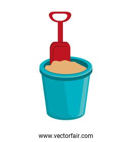 blue beach cup with sand and spoon,vector graphic