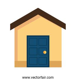 colorful house front view,vector graphic