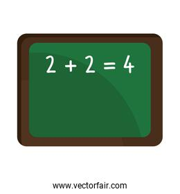 school green board with numbers,vector graphic
