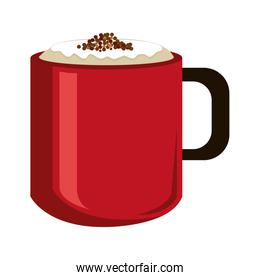modern cup of coffee,vector graphic