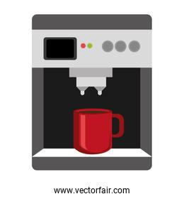 colorful electronic coffee maker,vector graphic