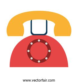 colorful old phone, vector graphic