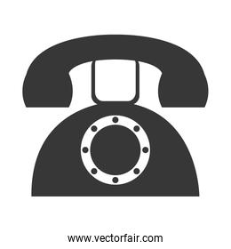 grey old phone, vector graphic