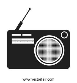 black and white old stereo, vector graphic